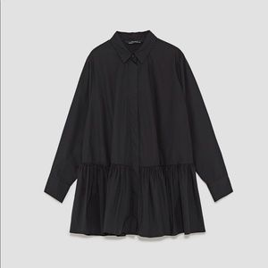 Frilly Cotton Poplin Shirt, NWT